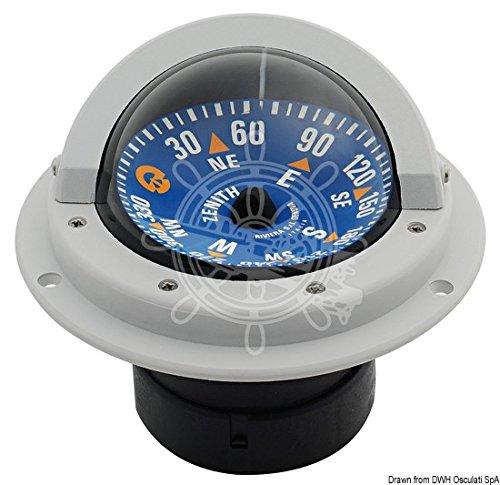 Osculati RivieraボートMarine High Speedコンパス3 80 mmグレー/ブルーフラットローズ B01DPVRG84