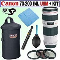 Canon EF 70-200MM F/4L USM Telephoto Zoom Lens + Deluxe Accessory Kit