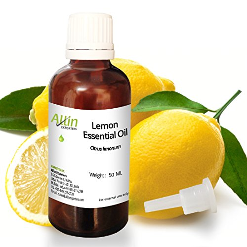 Allin Exporters Steam-Distilled Lemon Essential Oil – 50 ML – 100% Pure, Natural