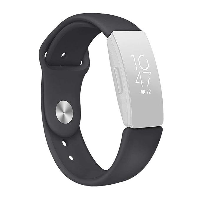 Riou Correa para Reloj,❤️para Fitbit inspira/inspira HR La Nueva Banda de la Correa de la Pulsera del silicón de los Deportes de la Moda Pulseras de ...