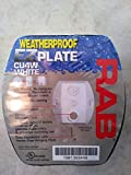 RAB Lighting CU4W Weatherproof 4 Hole Universal Cover, Aluminum, 4-5/8 Width x 4-3/4 Height, White by RAB Lighting