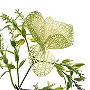 Homyl Bunch Artificial Plants Seaweed Garden Wedding Decor Phalaenopsis/Vine/ Persian Grass/Perilla Leaves/Staghorn Fern/Sago Cycas Leaves/Air Grass 10