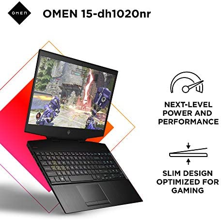"OMEN 15 Gaming Laptop, NVIDIA GeForce GTX 1660 Ti, Intel Core i7-10750H, 8 GB DDR4 RAM, 512 GB PCIe NVMe SSD, 15.6"" Full HD, Windows 10 Home, RGB Keyboard (15-dh1020nr, 2020 Model)"