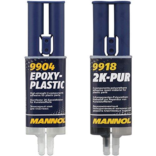 2K-Epoxidkleber + -Spachtel für Kunststoff 2x 30 g / 24 ml