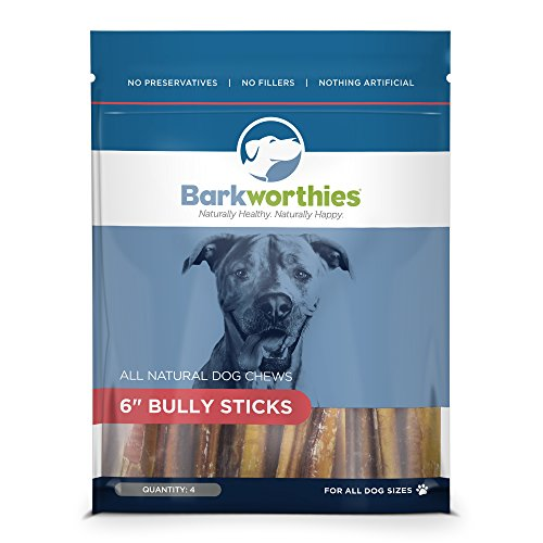 "Barkworthies Bully Stick Treat, 6"","