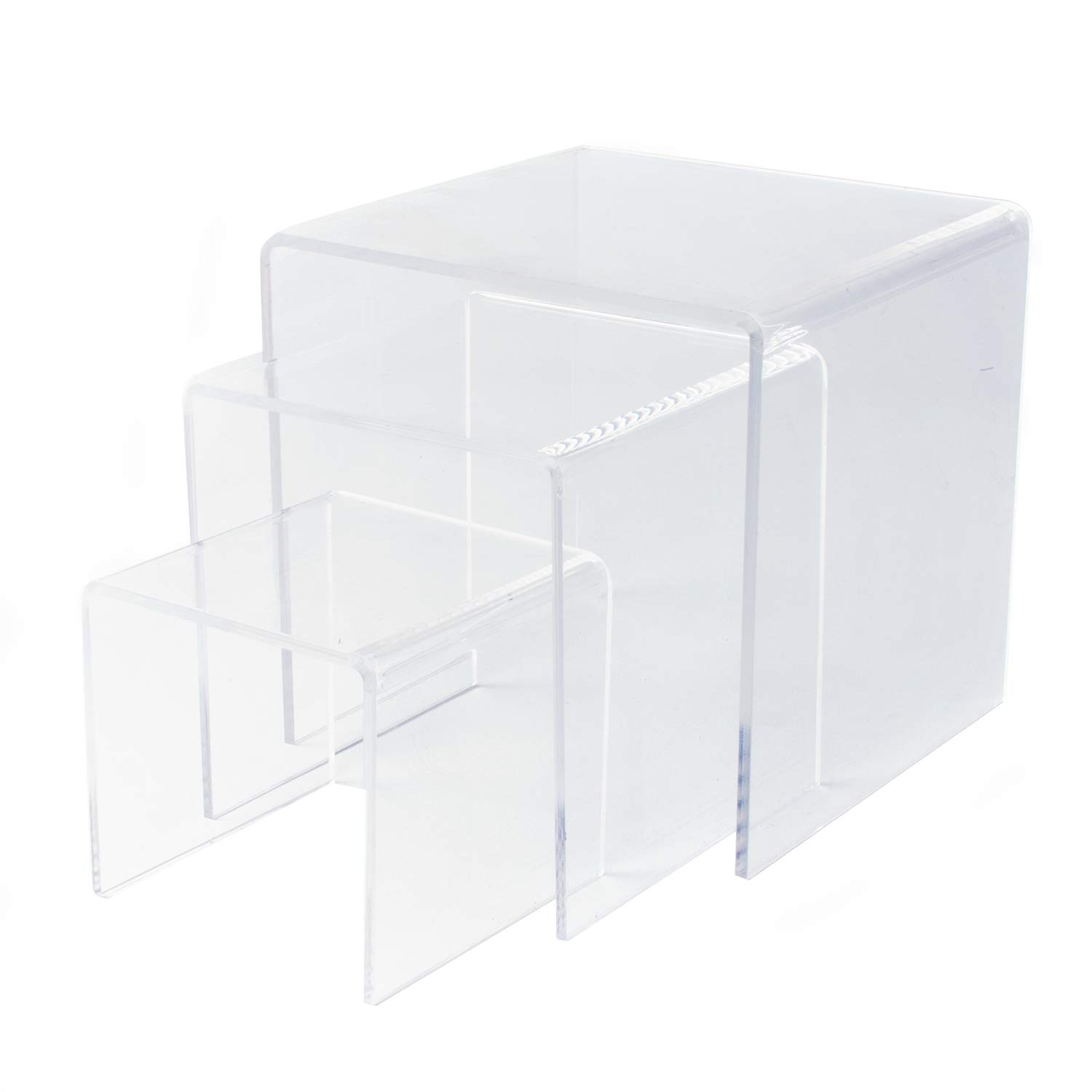 Clear Acrylic Riser Set of Three (3-Inch, 4-Inch, 5-Inch) by Super Z Outlet (2)