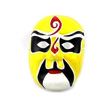ILYMJ Máscara de pulpa de yeso pintada a mano máscara de la quintaesencia de arte chino