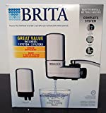 BRITA Chrome Faucet Mount Filtration System, Includes 1 System and 2 Filters.