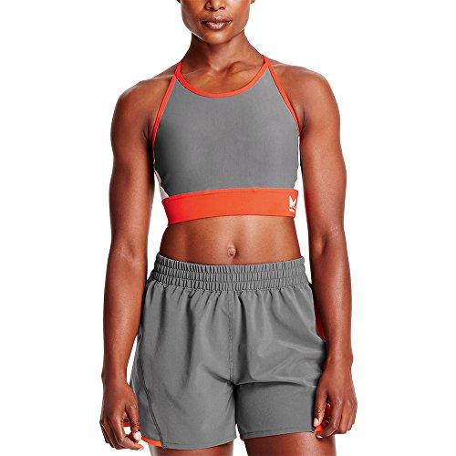 Mission Womens VaporActive Sensory Cross Back Medium Impact Sports Bra, Cherry Tomato/Quiet Shade/Lunar Rock, Small