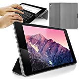 Orzly® - SlimRim for NEXUS 9 with AUTO SLEEP SENSORS - ULTRA SLIM Rim Style Tablet Case in GREY with Built-In Magnetic Lid for Secure Fastening & Integrated Sleep Sensors (for Automatic Sleep / Wake / Standby functionality)