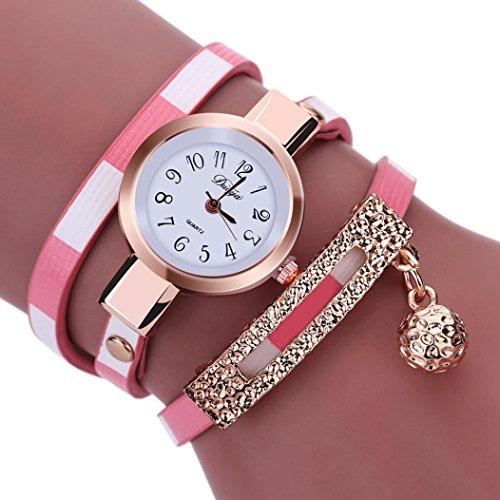 91d4cf02f62b5 Women Watches Mosunx(TM) Fashion New Girl Watches Charm Wrap Around  Leatheroid Quartz Wrist Watch Girlfriend Gift (Pink) - Buy Online in Qatar.