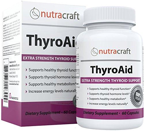 #1 Supplement zur Unterstützung der Schilddrüse - 100% GELD-ZURÜCK-GARANTIE - Natürliche Formel mit Kräuter um die Funktion der Schilddrüse mit Hilfe von L-Tyrosin, Seetang (Jod), Ashwaganda (Withania), Selen, B-12 und Vitamin D zu verbessern und einen gesunden Stoffwechsel zu unterstützen, Müdigkeit zu reduzieren, Gewichtsverlust zu fördern und Energie zu erhöhen - 60 Kapseln
