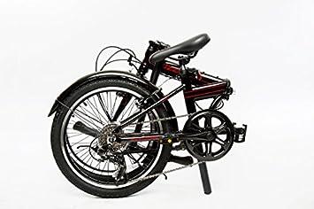 EuroMini ZiZZO Via 27lb Folding Bike-Lightweight Aluminum Frame Genuine Shimano 7-Speed 20 Folding Bike with Fenders