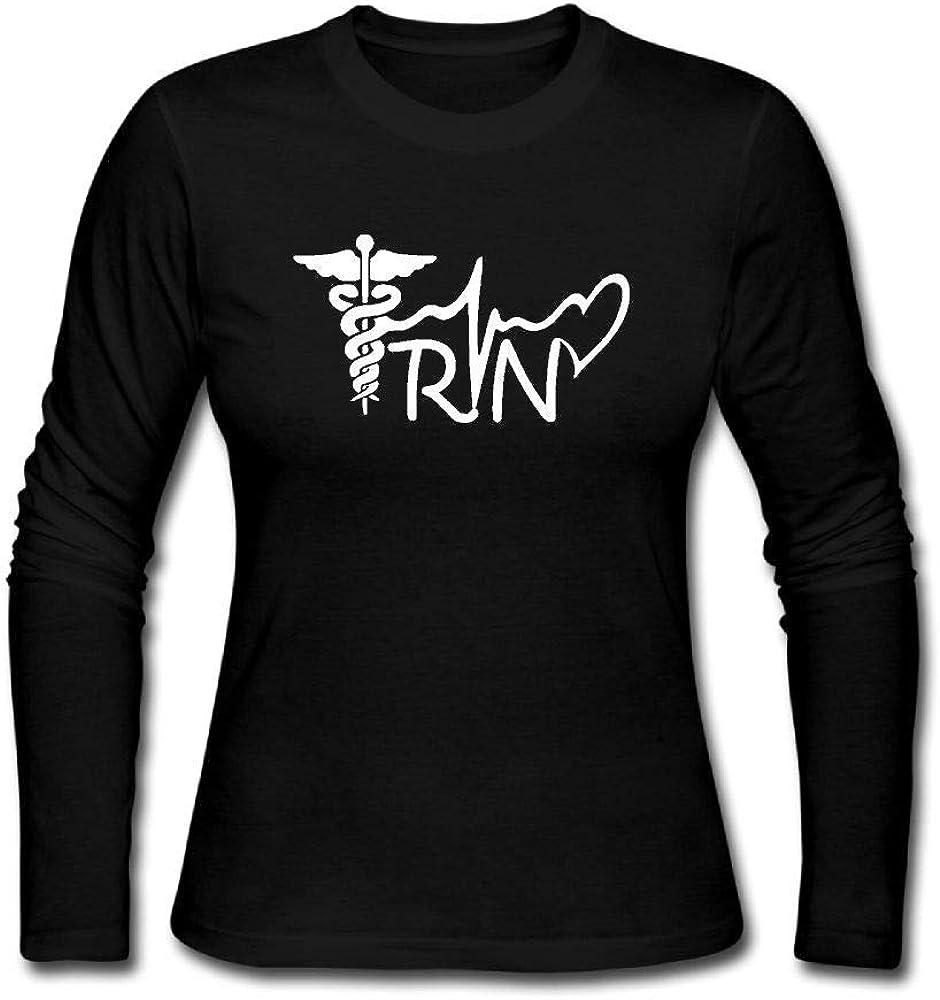 KENMENE Registered Nurse R N Lifeline Shirt Womens Jersey Long Sleeve T-Shirt Tee Blouse Shirts