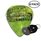 roman drawing - Huahikj23 Guitar Pick (full) Roman-colosseum-drawing-17 Rich Fashion Patterns And Thicknesses.As A Convenience, A Thickness Of 6 Pieces For Sale.