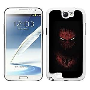 Funda carcasa para Samsung Galaxy Note 2 diseño hombre araña borde blanco
