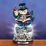 Thomas Kinkade Storybook Fiber Optic Snowman