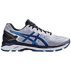ASICS Men's Gel-Kayano 23 Running Shoe, Silver/Imperial/Black, 9.5 M US