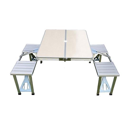 Lxf20 Mesa Plegable y Silla - aleación de Aluminio, Beige, Mesa de ...