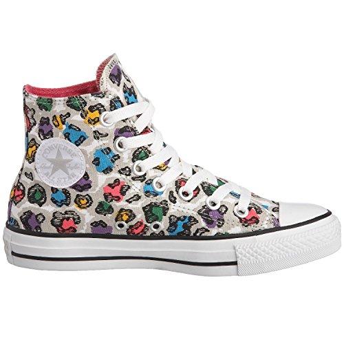 Converse Women Chuck Taylor Rainbow All Star Hi Animal Grey Damen Sneaker grau 514090 Gr. 42,5