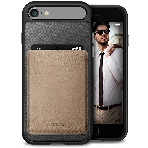 separation shoes 50ee2 3c02c iPhone 7 Case, OBLIQ [Flex Wallet][Mud Gray][MILITARY GRADE CERTIFIED] Slim  LEATHER ID & Credit Card Holder Cover for Apple iPhone 7 (2016)