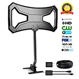 Outdoor HDTV Antenna 150 Miles Attic/Roof HD Antenna with Detachable Amplifier Signal Booster | 1080P High Reception | UL Certificate | 30Ft High Performance Coaxial Cable and Mounting Pole by Ailuki