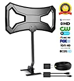Outdoor Antenna,Ailuki 150 Miles Range HDTV Antenna with Detachable Amplifier Signal Booster,30Ft High Performance Coaxial Cable with Mounting Pole,1080P Extremely High Reception with UL Certificate