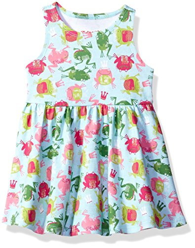 Zutano Baby Girls' Tank Dress, Frog Princess, 12M (6-12 Months) (Baby Zutano Dress)