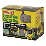 Reliance Double Doodie Toilet Waste Bags-No Gel (Black, Small)