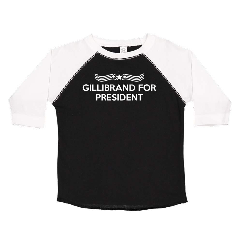 Star Banner Gillibrand for President Presidential Election 2020 Toddler//Kids Raglan T-Shirt