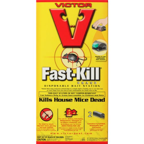 Victor Fast Kill Disposable Mouse Poison Bait Station 2 Pack M912