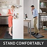 "DEXI Anti Fatigue Comfort Mat Kitchen Rug, 3/4 Inch Cushioned Memory Foam Floor Mat for Kitchen, Sink and Office Standing Desk, 39""x20"", Black"