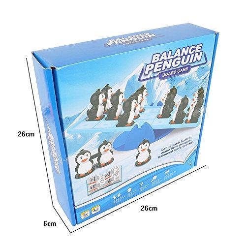 Amyove Kids Creative Balance Penguin Game Seesaw Balance Family Friends Fun Children Intelligence Development Brain Teaser Toys - Seesaw Balance