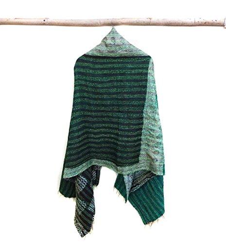 Silk Kantha Scarf Vintage Head Wrap Stole Dupatta Hand Quilted Women Gypsy