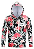 Pizoff Mens Boys Casual Long Sleeve Funny Floral Print Work Out Pullover Hoodie T-Shirt AG002-01-L