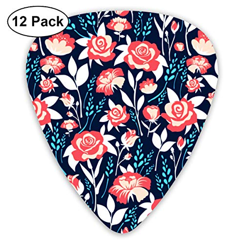 Spring Flowering Bendy Ultra Thin 0.46 Med 0.73 Thick 0.96mm 4 Pieces Each Base Prime Plastic Jazz Mandolin Bass Ukelele Guitar Pick Plectrum Display