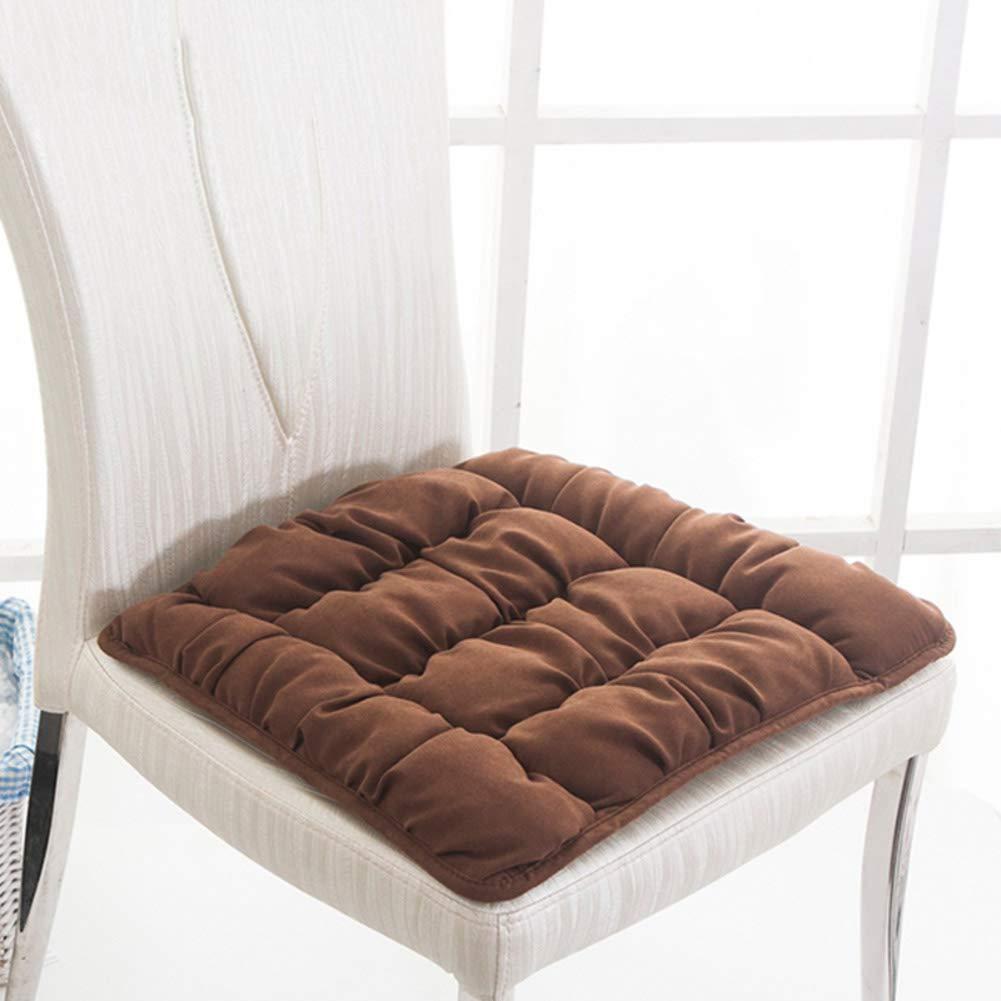 YQ WHJB Nonslip Chair Cushion,Seat Cushions Dining Chairs,Thicken Soft Trapezoidal Table Home Universal Chair Pad-Brown 38x42x45cm(15x17x18inch)