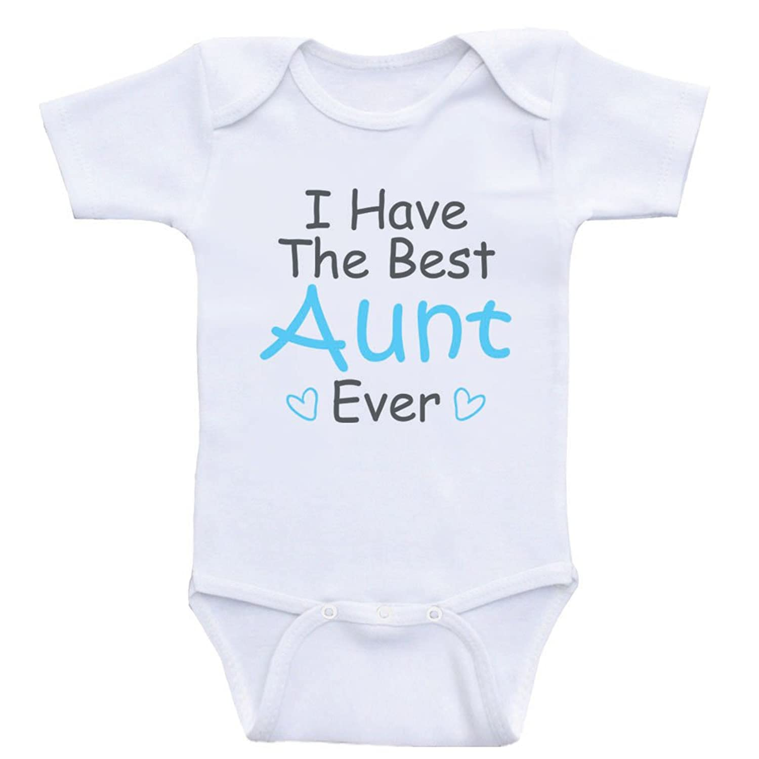 "Amazon Aunt Baby Clothes ""I Have The Best Aunt Ever"" Cute Baby"