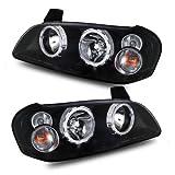 03 maxima headlight assembly - SPPC Headlights Halo Black For Nissan Maxima - (Pair)