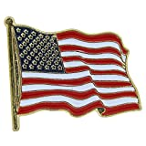 US Flag Store Waving Lapel Pin USA Flag