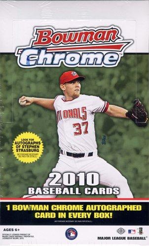 MLB 2010 Bowman Chrome MLB (18 packs) 2010 Bowman Baseball