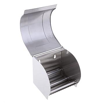 KESOTO Estuche De Papel Higiénico De Rollo De Papel Higiénico De Aluminio con Dispensador De Cubierta: Amazon.es: Deportes y aire libre