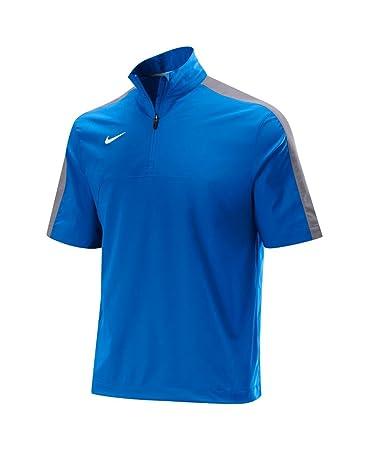 nike 1 4 zip pullover. nike dri fit 1/4 zip baseball pullover jacket mens royal/gray - small 1 4