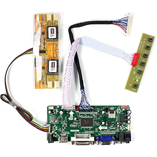 "HDMI+VGA+DVI+Audio Input LCD Controller Board For HSD190MEN4 M170EN06 17"" 19"" 1280x1024 4CCFL 30Pins LCD Panel"