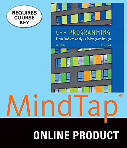 MindTap Computer Science for Malik's C++ Programming: From Problem Analysis to Program Design, 7th Edition (Digital Performer 7 Software)