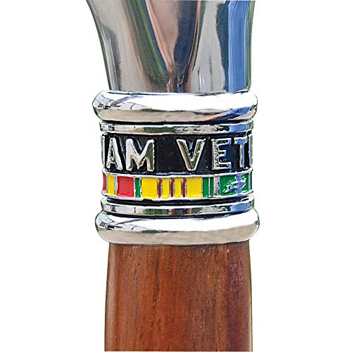 Medals of America Vietnam Veteran Cane with Hardwood Shaft Mahogany
