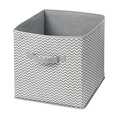 Grand bac de Stockage pour Jouets MetroDecor mDesign Panier de Rangement en Tissu Couleur Gris//cr/ème v/êtements ou couvertures Organiseur de penderie