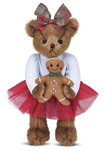 Bearington Anita Cookie Christmas Gingerbread Plush Teddy Bear, 14