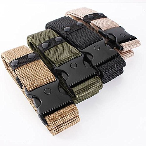Black Adjustable Survival Tactical EMT Security Police Duty Utility Belt