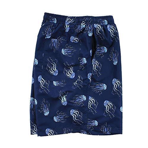 os tama Jellyfish hasta Shorts Pattern Abraxas azul 10xl por Bath grandes q0PWSY